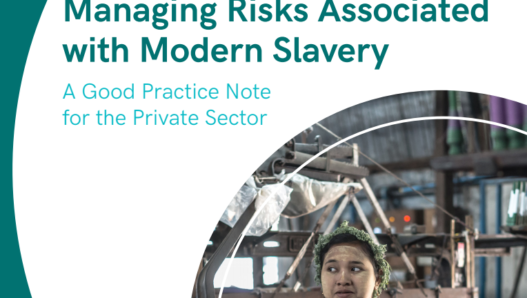 Good practice note on managing modern slavery risks