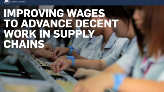 Improving wages to advance decent work in supply chains